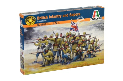 Italeri 6187 - BRITISH INFANTRY AND SEPOYS - 50 figures
