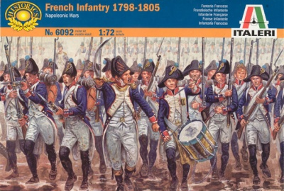 Italeri  Set 6092 NAPOLEONIC French Infantry 1798-1805