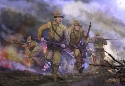 M128 - World War II Imperial Japanese Army in Attack
