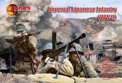 MARS 72107 - WWII IMPERIAL JAPANESE INFANTRY - 40 FIGURES