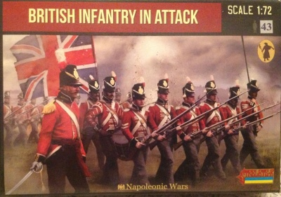 Napoleonic 145 British Infantry in Attack