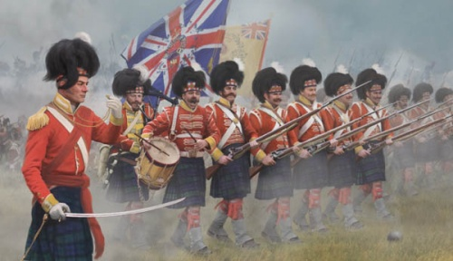 Napoleonic 146 Highlanders in Attack