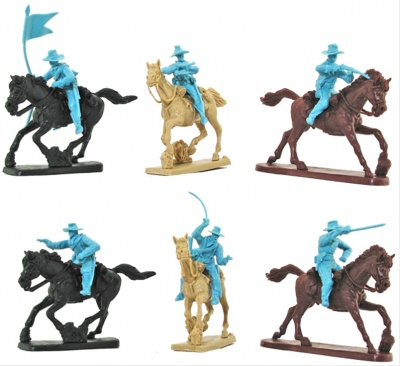 PARAGON - 7th US CAVALRY - SET 4  - LIMITED 6 MOUNTED FIGURES