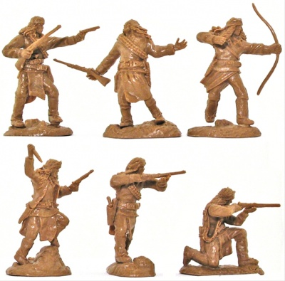 PARAGON GERONIMO FAR-WEST SET 1 - AMERICAN INDIAN APACHES -  LIMITED  FIGURES