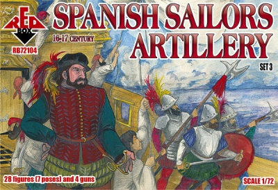RB72104 Spanish Sailors Artillery 16-17 century - set 3