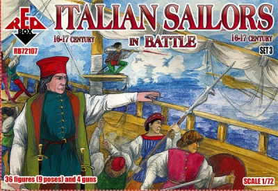 RB72107 Italian Sailors in battle 16-17 century. Set 3