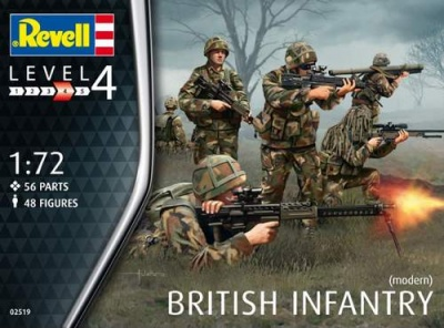 REVELL 2519 1/72 British Infantry (Modern) Plastic Model Kit