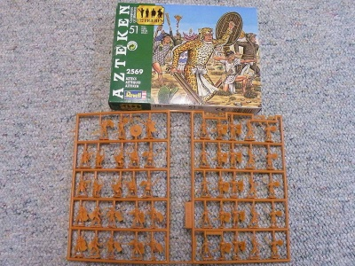 REVELL TOY SOLDIERS 1/72 - 2569 - Aztecs Warriors - RARE BOX