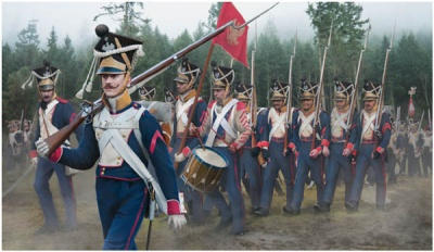 Strelets - 142 Napoleonic Polish Infantry on the March