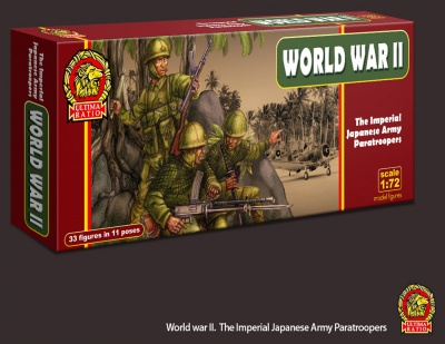 UR005 - Imperial Japanese Army Paratroopers - 33 figures in 11 poses