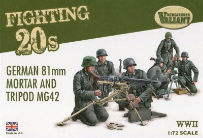 Valiant  FT002  WWII German 81mm Mortar and Tripod MG42