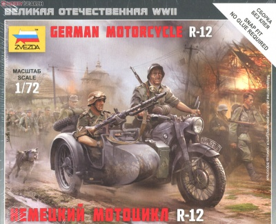 Zvezda 6142  German Motorcycle BMW R-12 (SIDECAR)